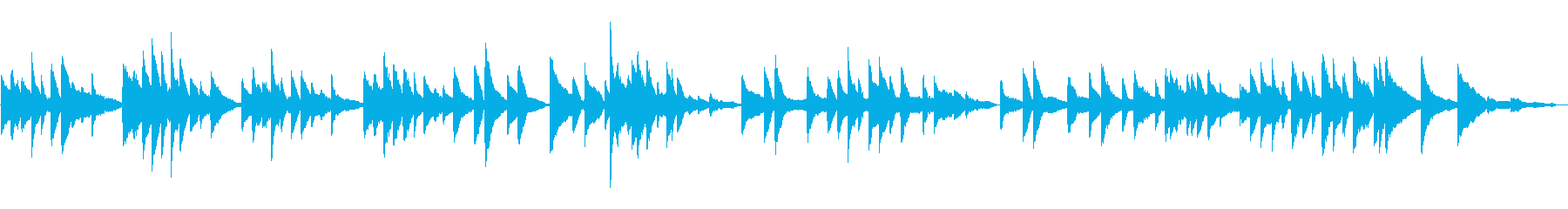はかなく情感的な3拍子のピアノの再生済みの波形