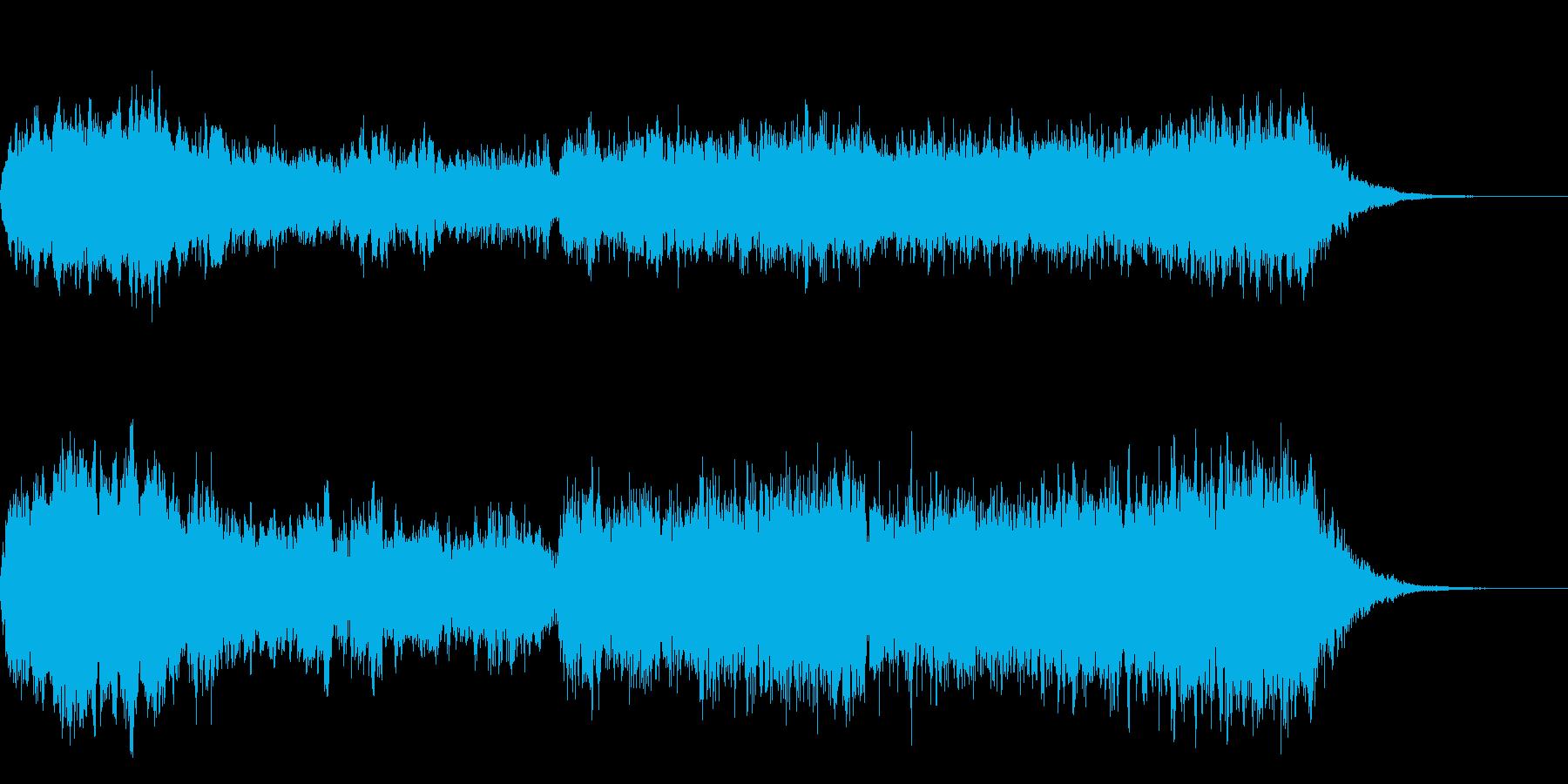 ファンタジーなオープニング向けコーラスの再生済みの波形