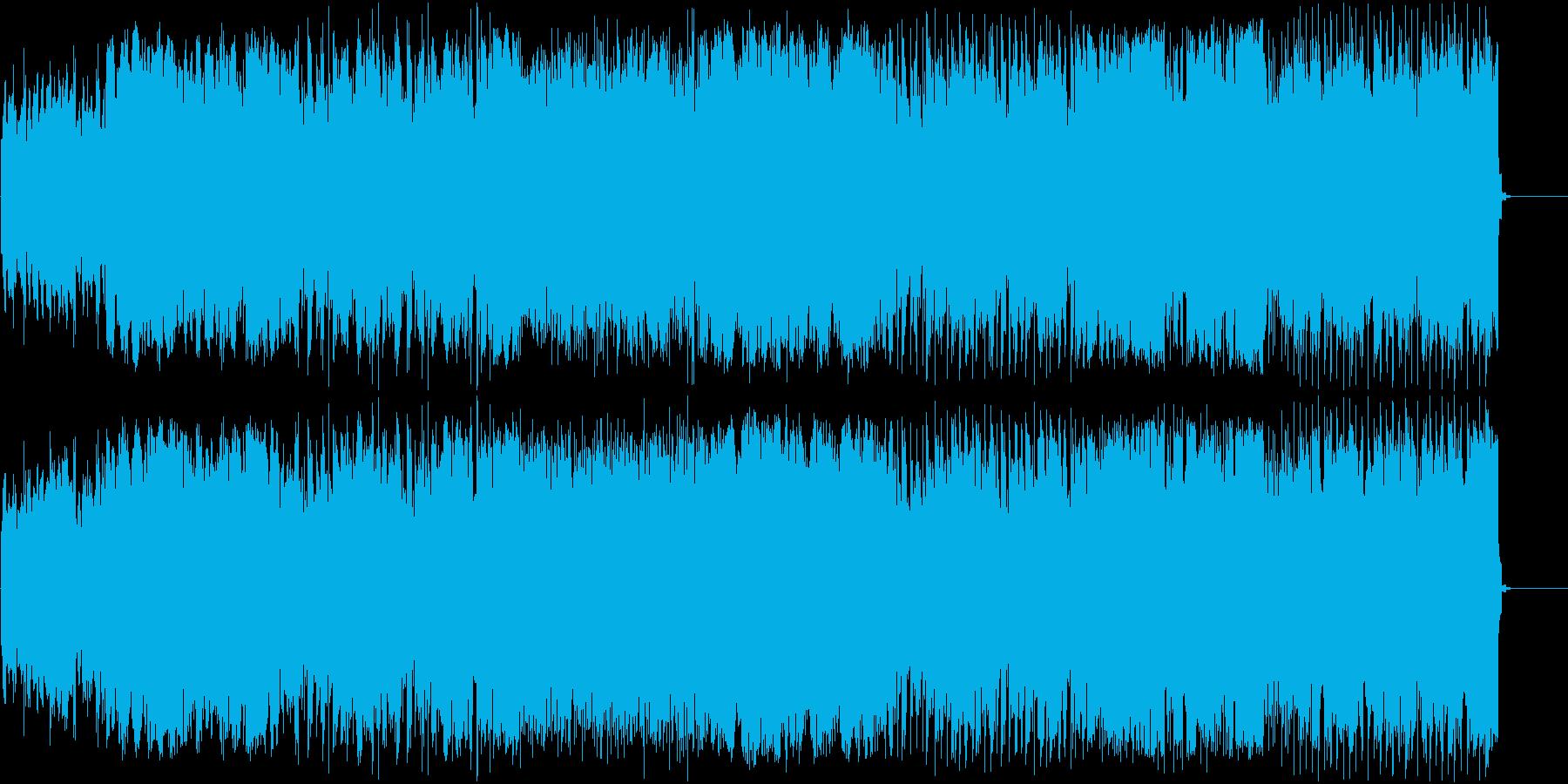 妖怪が出てきそうな怪しい雰囲気のBGMの再生済みの波形
