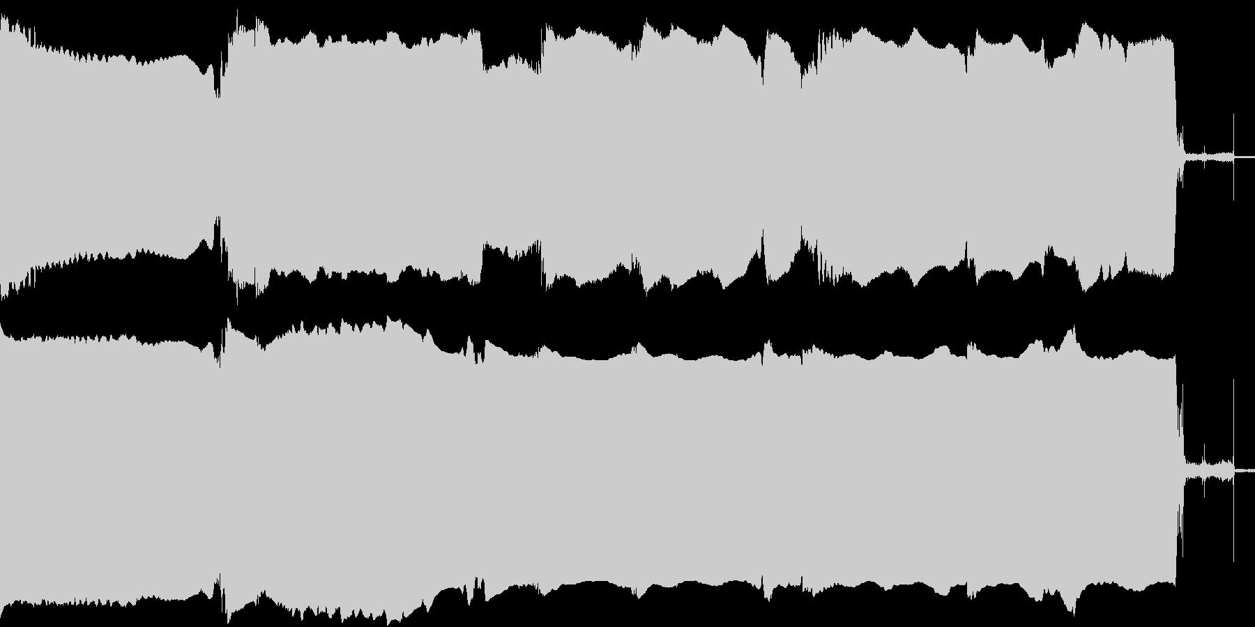 マイクで集音したギターのフィードバック音の未再生の波形