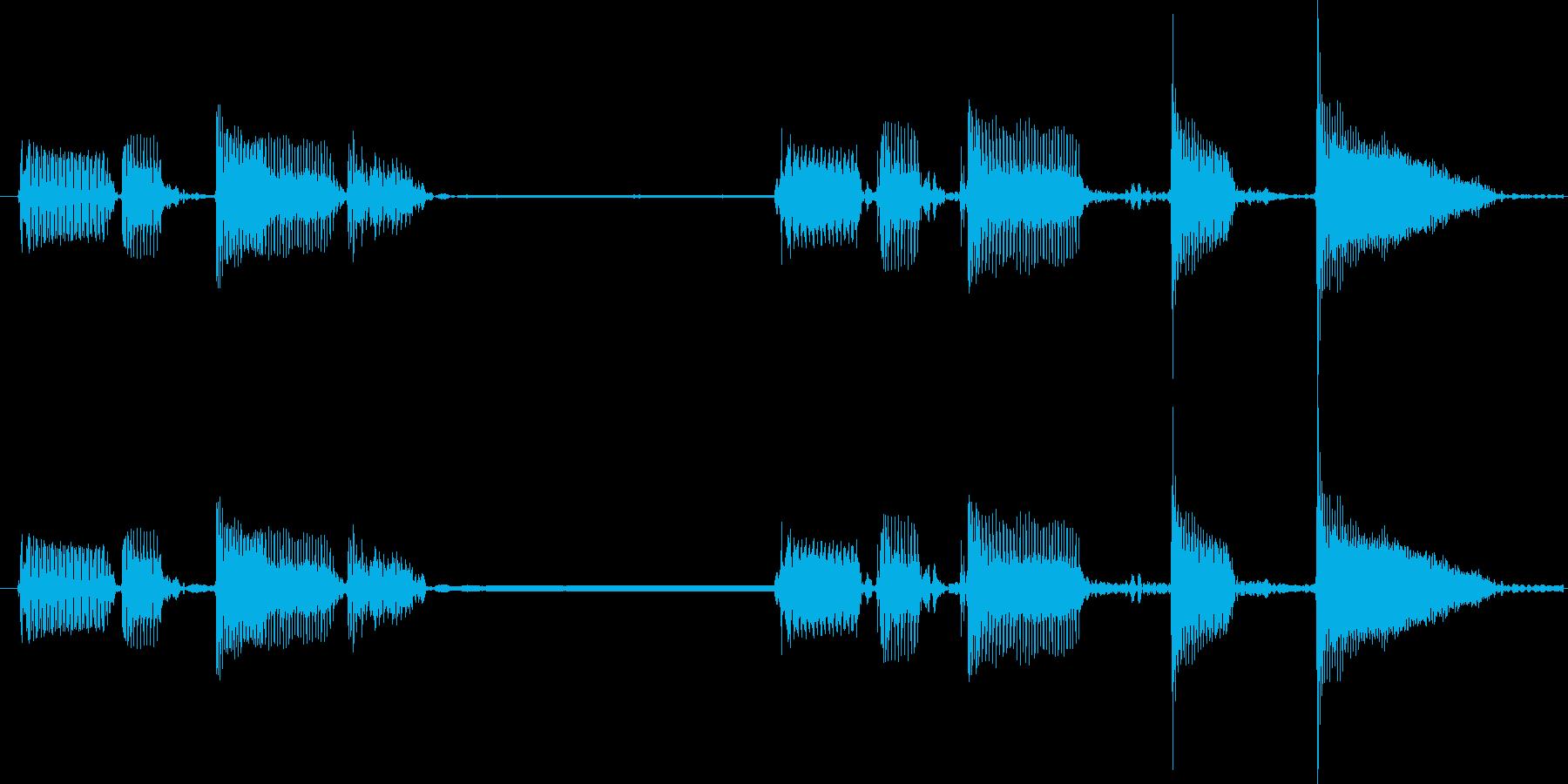 クールでファンクなスラップベースソロ素材の再生済みの波形