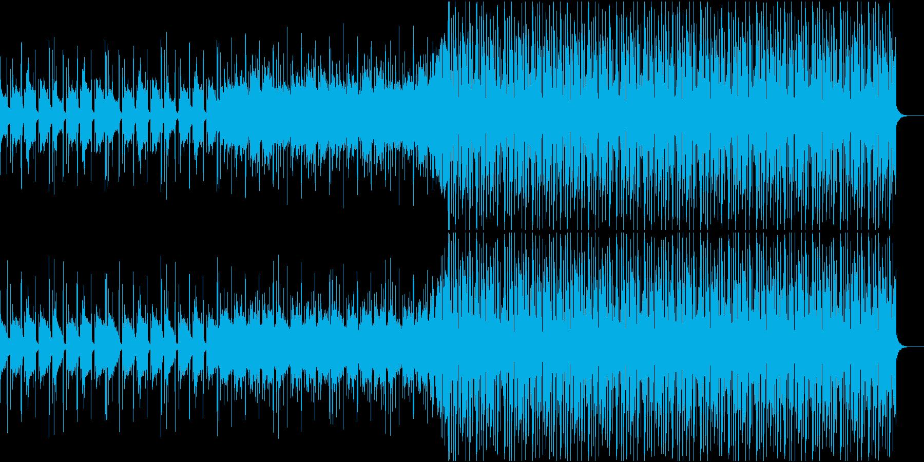 夕焼けが似合うトロピカルハウスの再生済みの波形