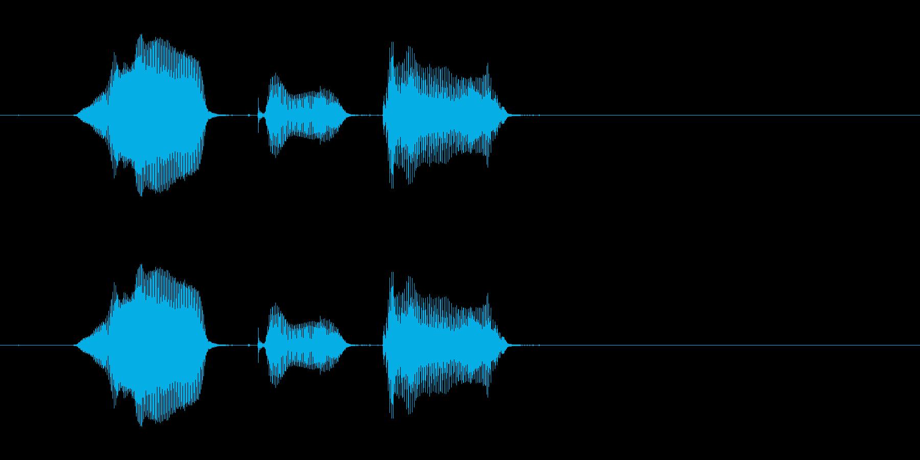 「よーく見て」の再生済みの波形