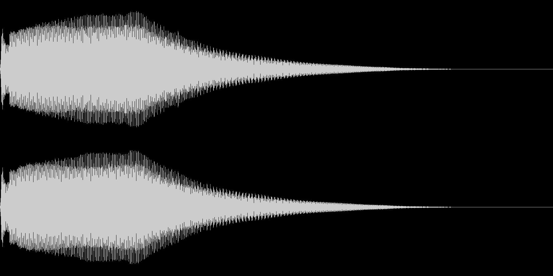 正解 開く 通れる 開運の未再生の波形