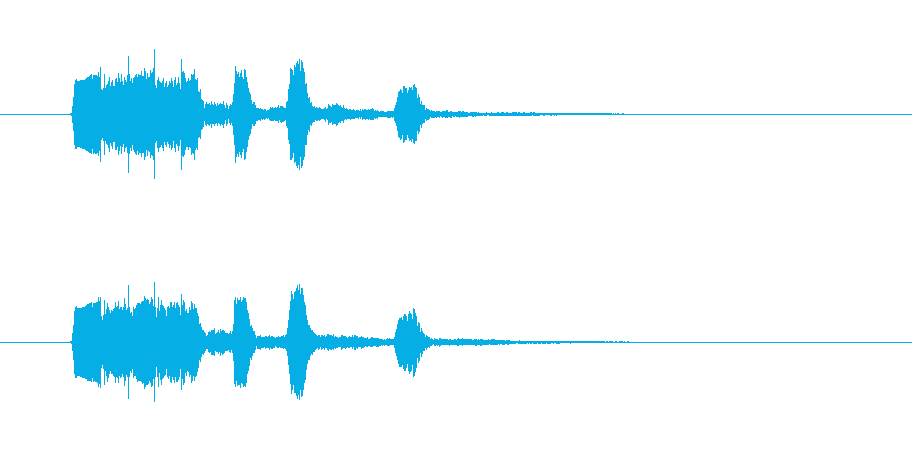 タラランタンタン(ジングル、終わり)の再生済みの波形