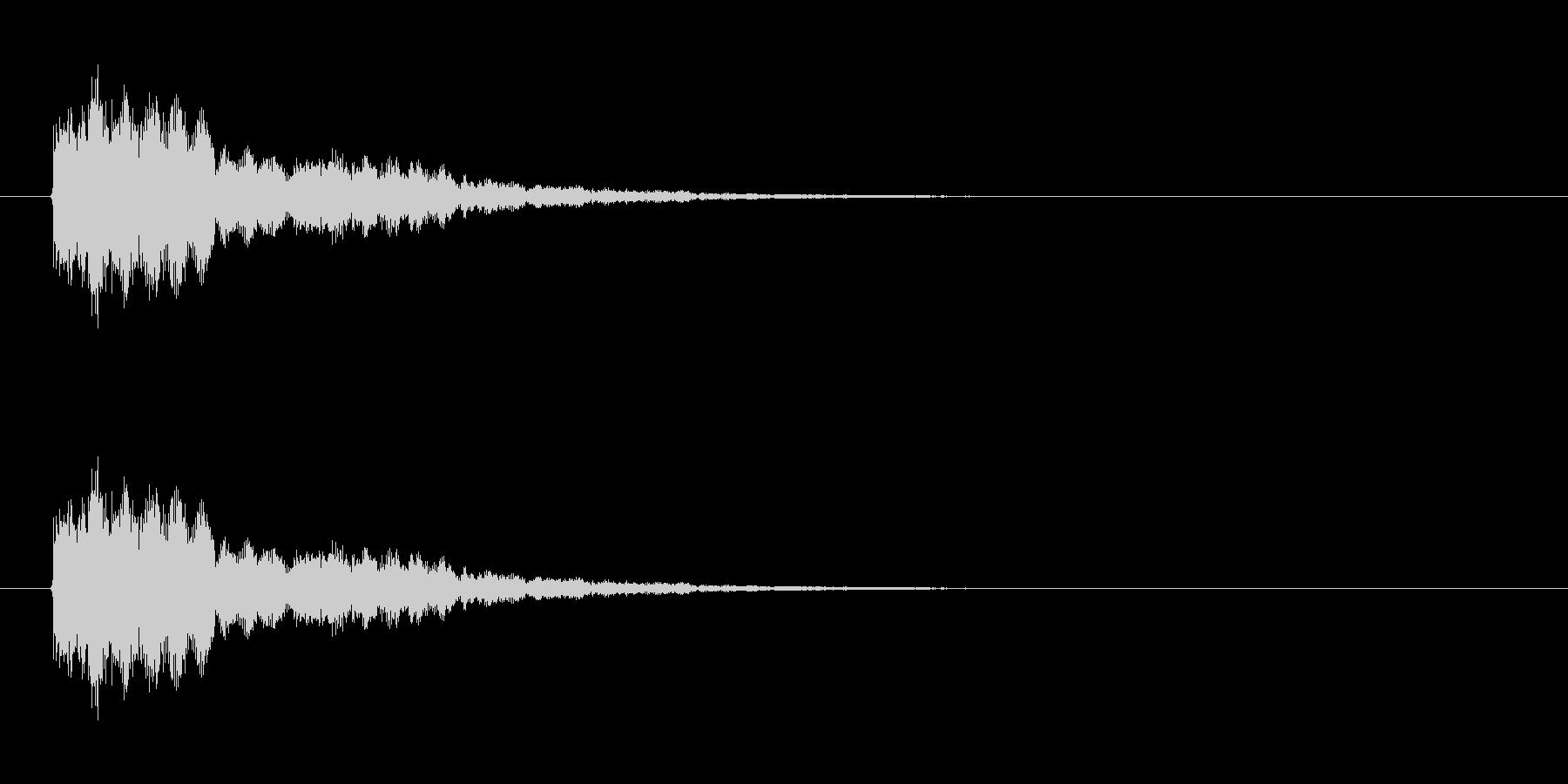 ウィンドチャイム3(シャララーン)の未再生の波形
