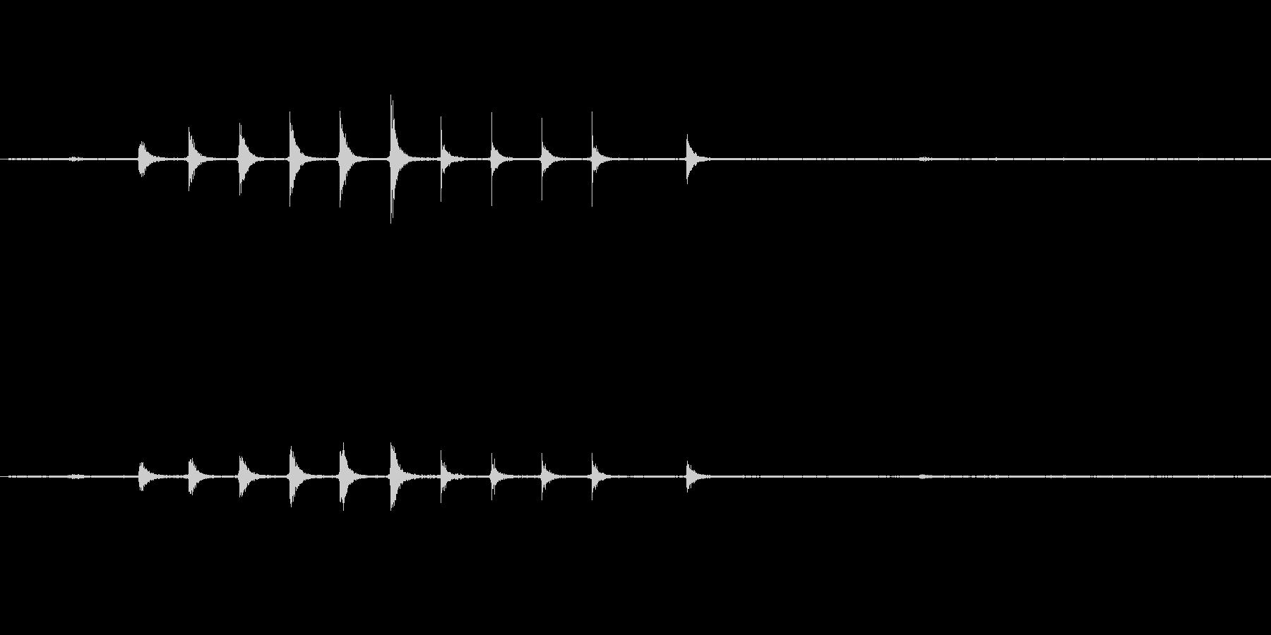 ガスコンロの点火音ですの未再生の波形