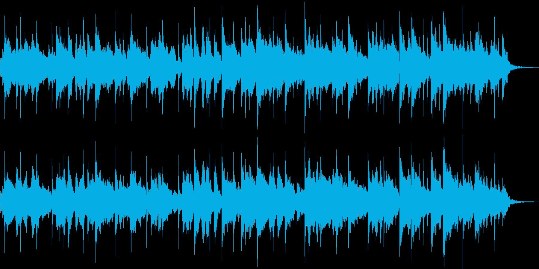 パンフルートが印象的なスムースジャズ風の再生済みの波形