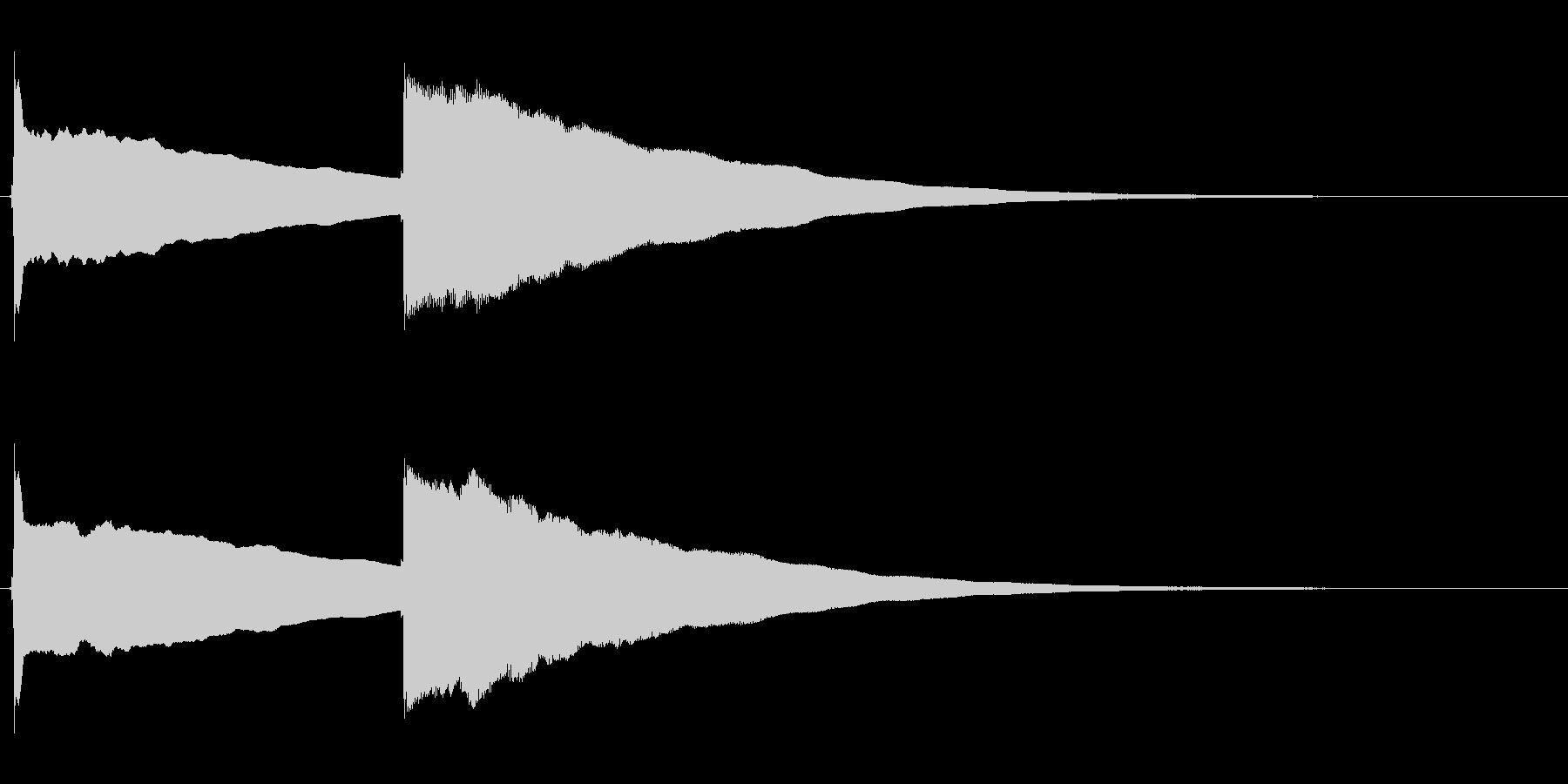 ピンポン (2)の未再生の波形