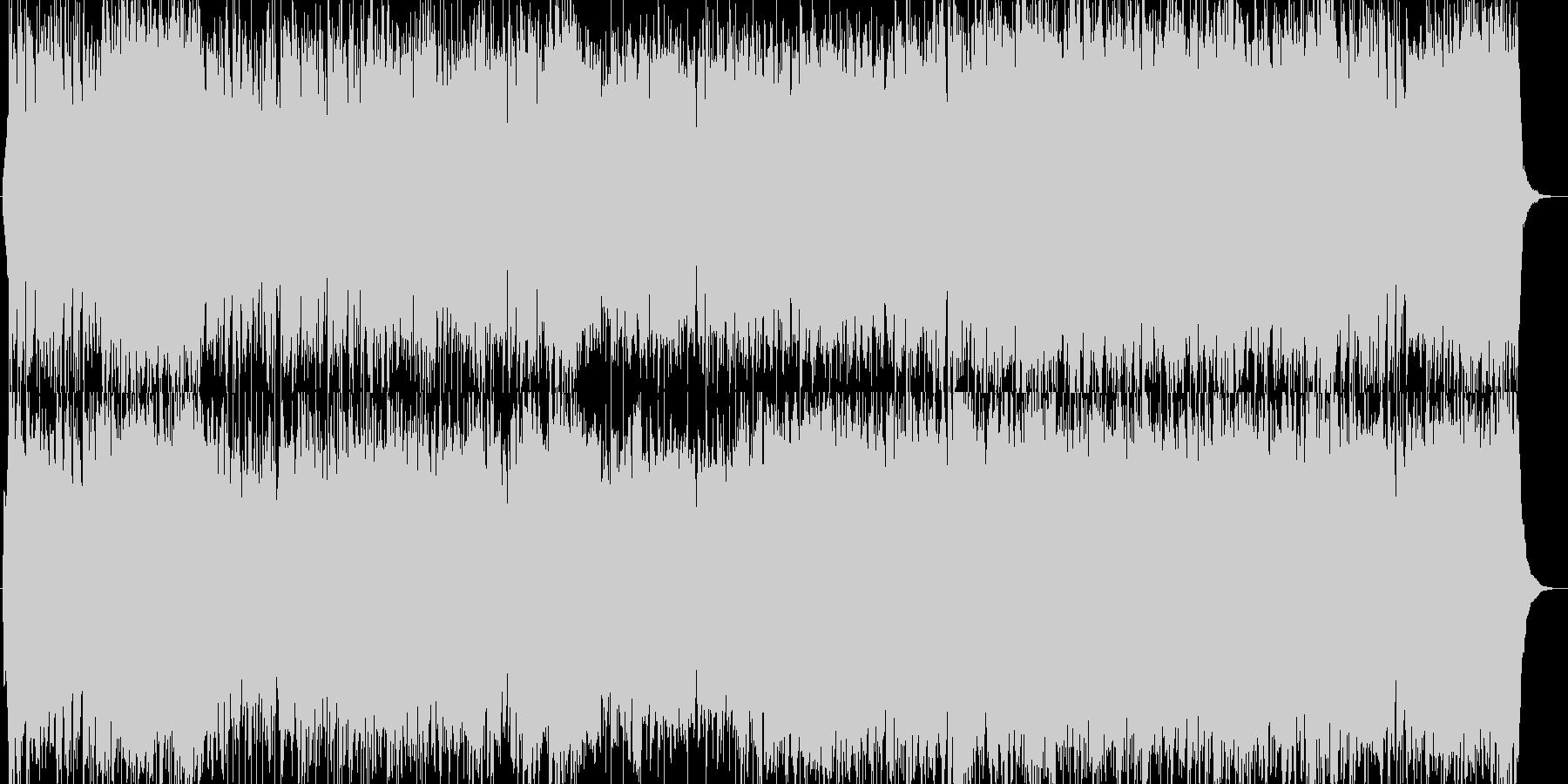 軽快なオーケストラロック・バトル曲の未再生の波形