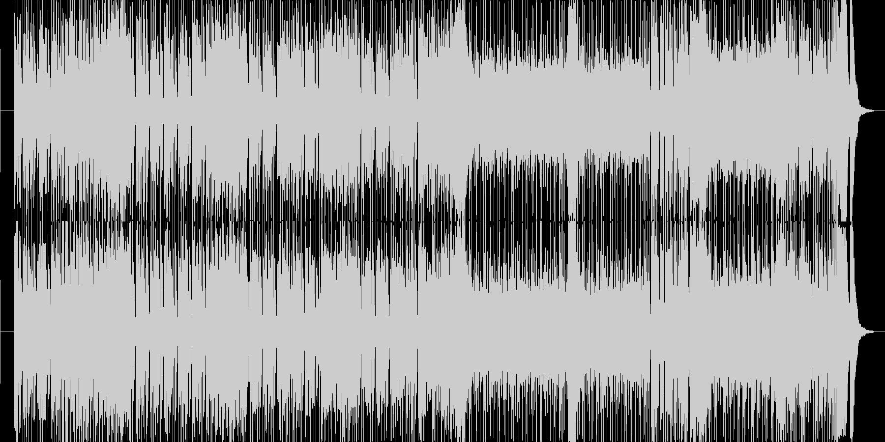 ワイルドな雰囲気のロカビリーロックの未再生の波形