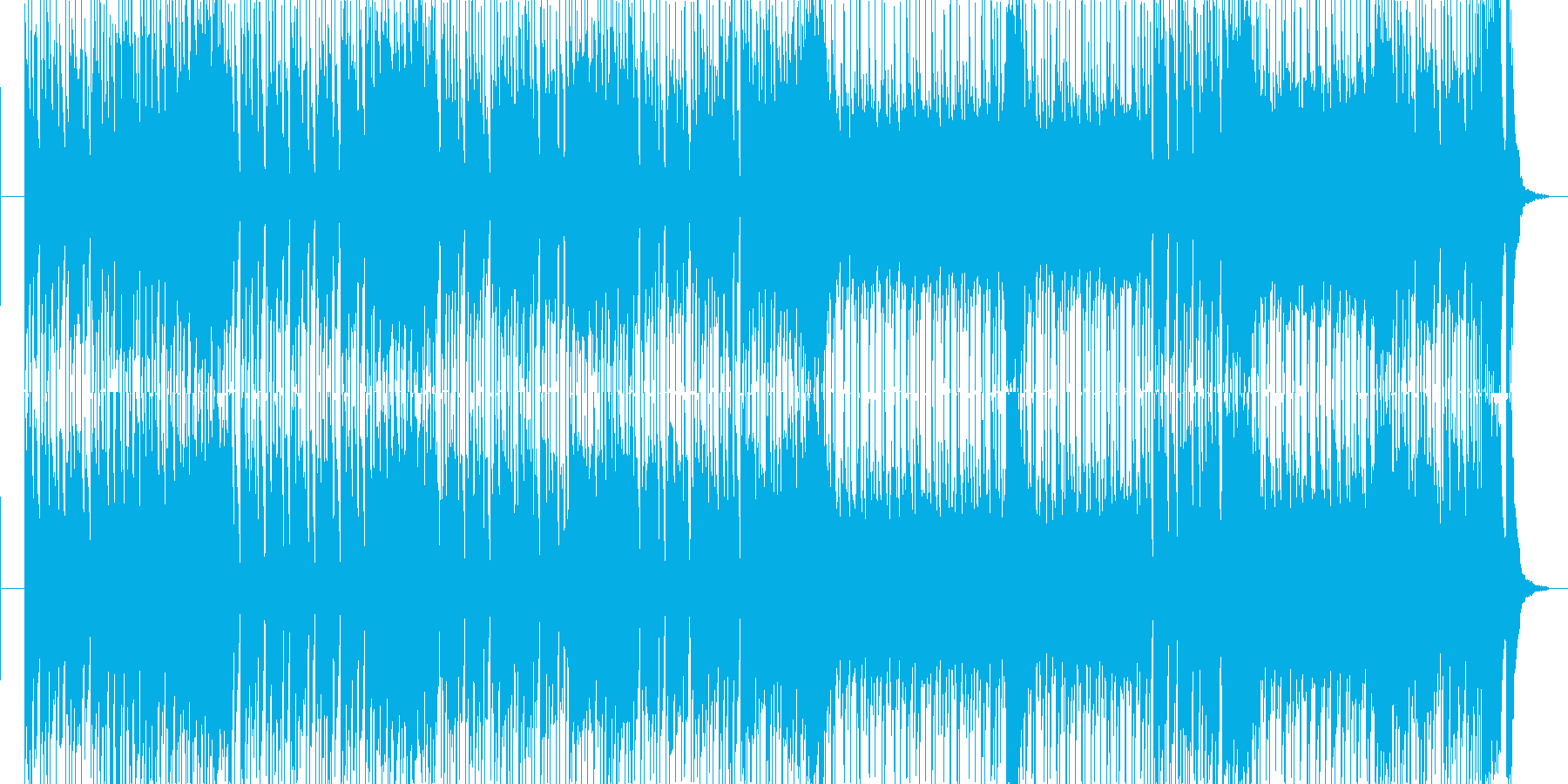 ワイルドな雰囲気のロカビリーロックの再生済みの波形