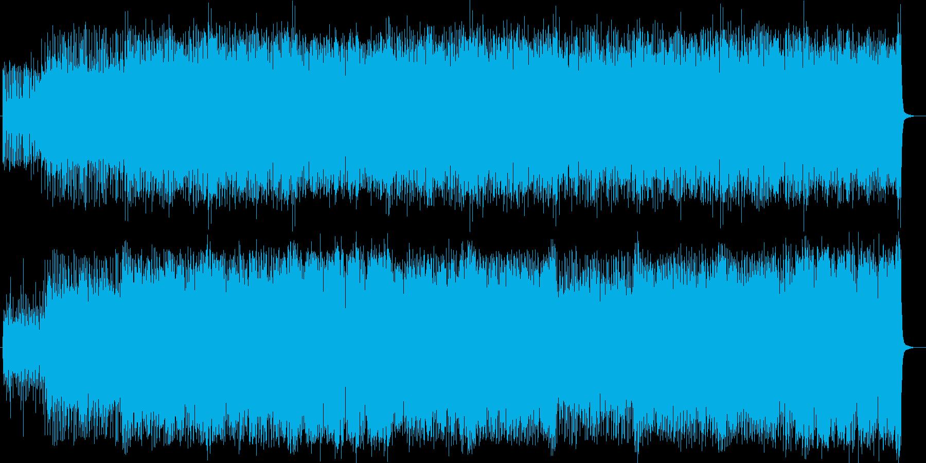 ビートが効いたポップなシンセの曲の再生済みの波形