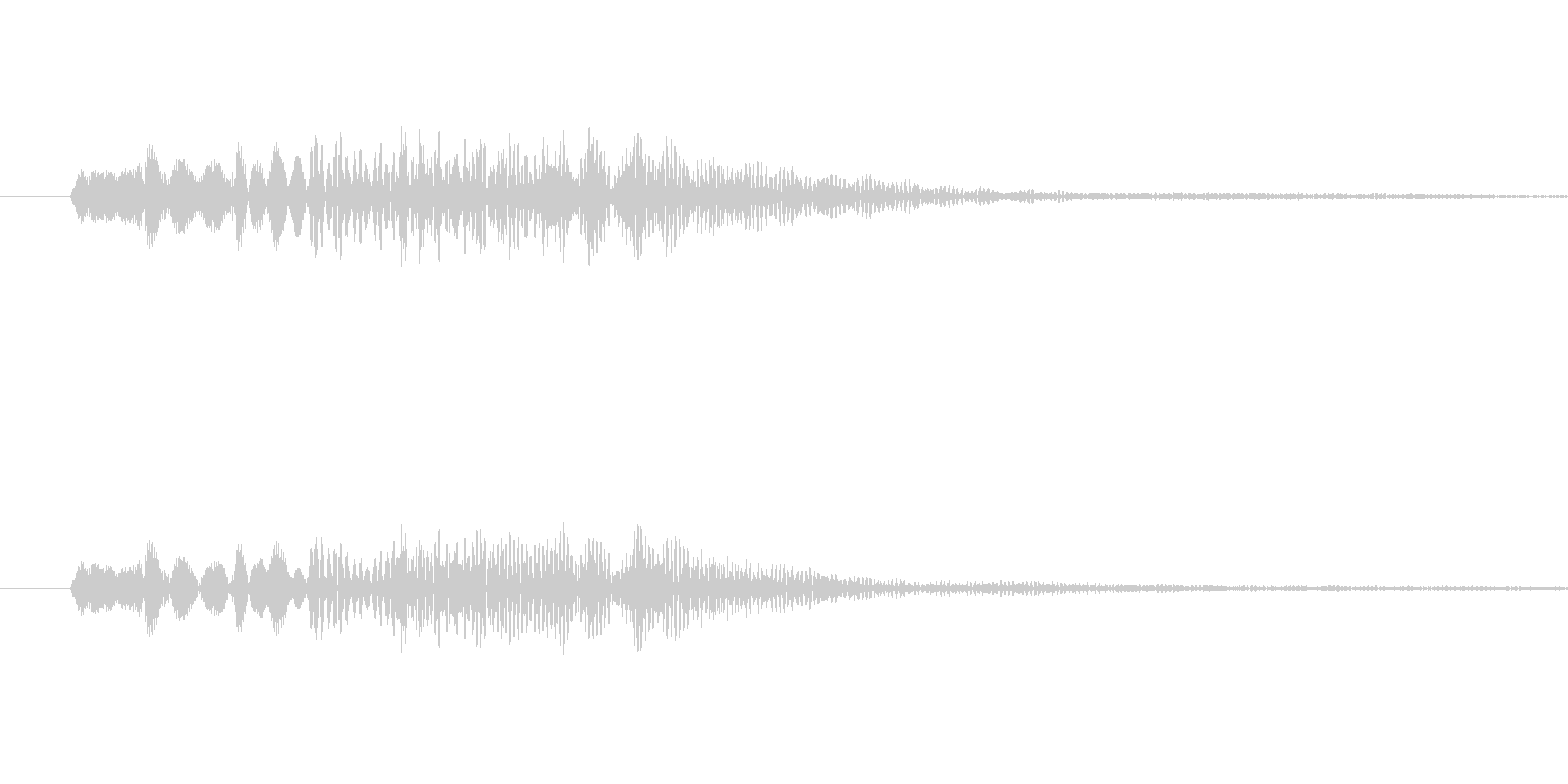 低めのシンセ系音色 決定音などに。の未再生の波形