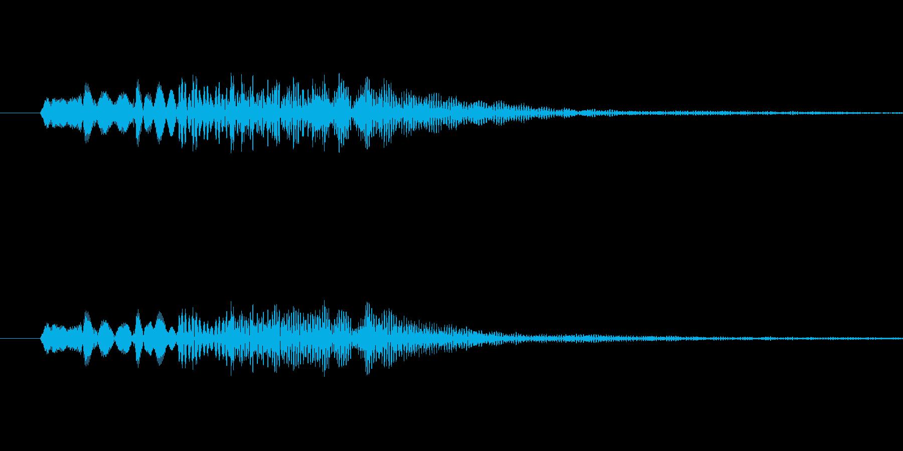 低めのシンセ系音色 決定音などに。の再生済みの波形