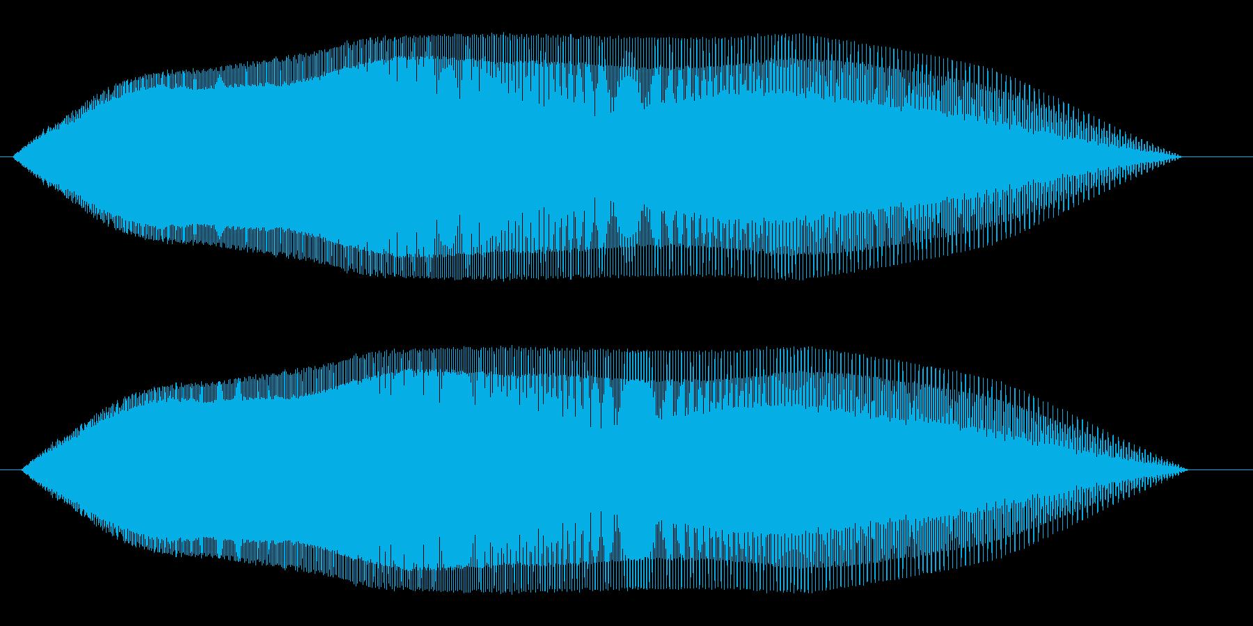 ピュゥゥ〜ン(降下していく感じの音)の再生済みの波形