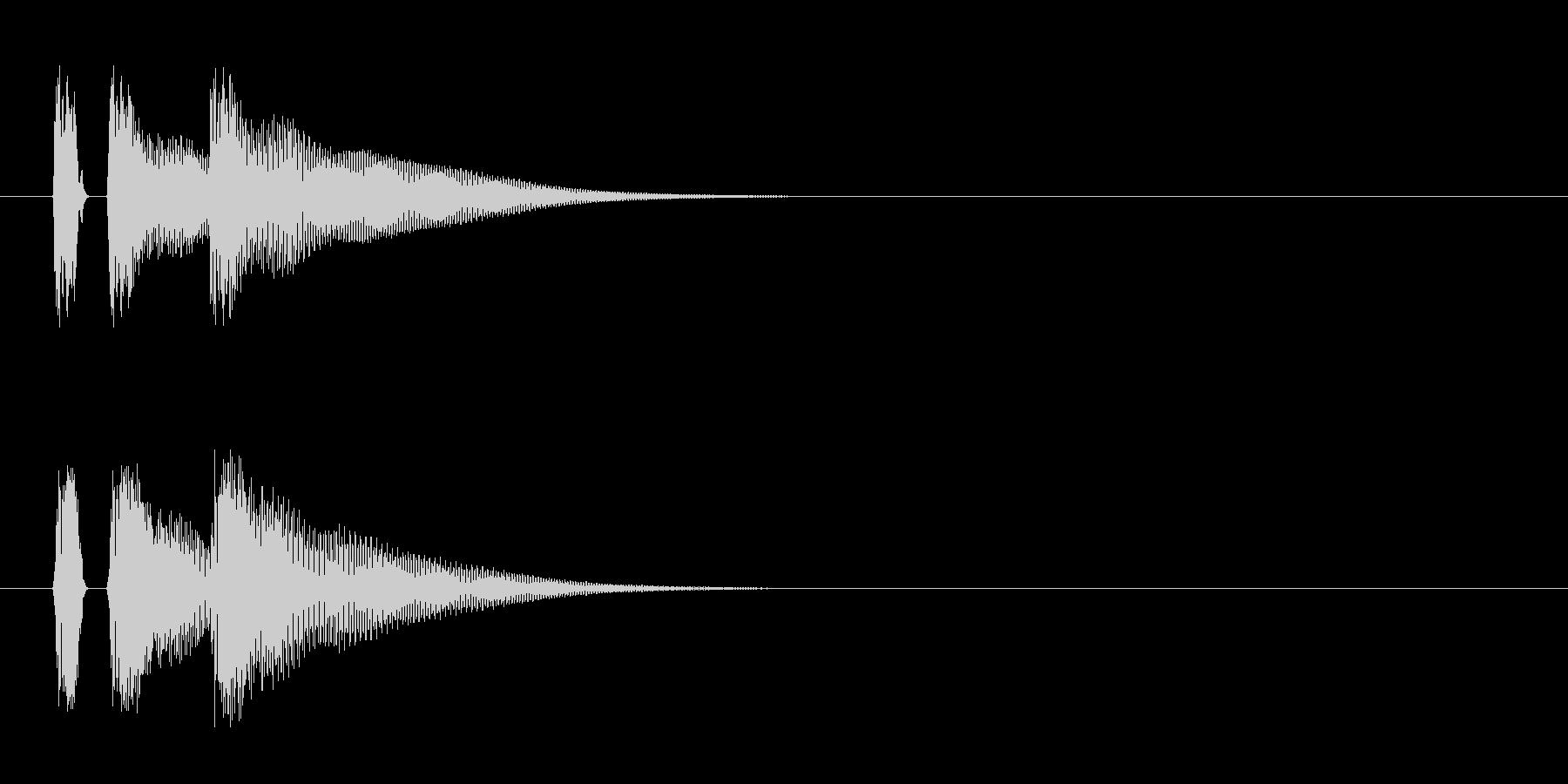 マリンバ。カーソル移動、キャンセルなど。の未再生の波形