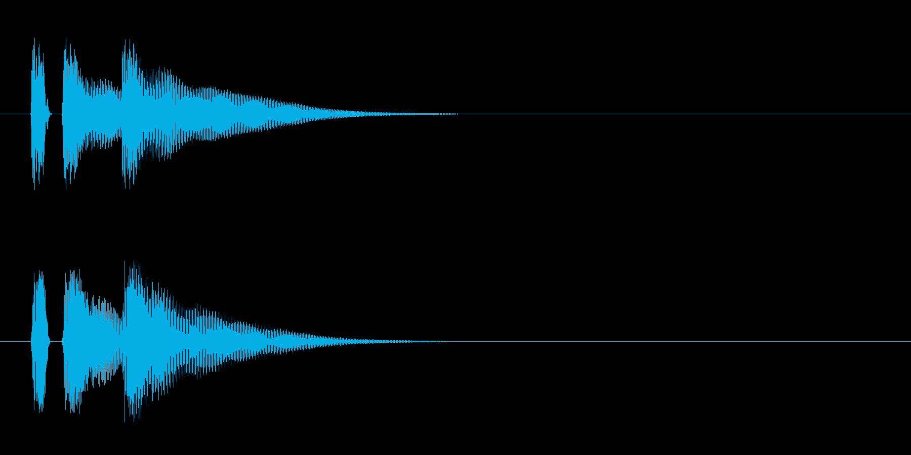 マリンバ。カーソル移動、キャンセルなど。の再生済みの波形