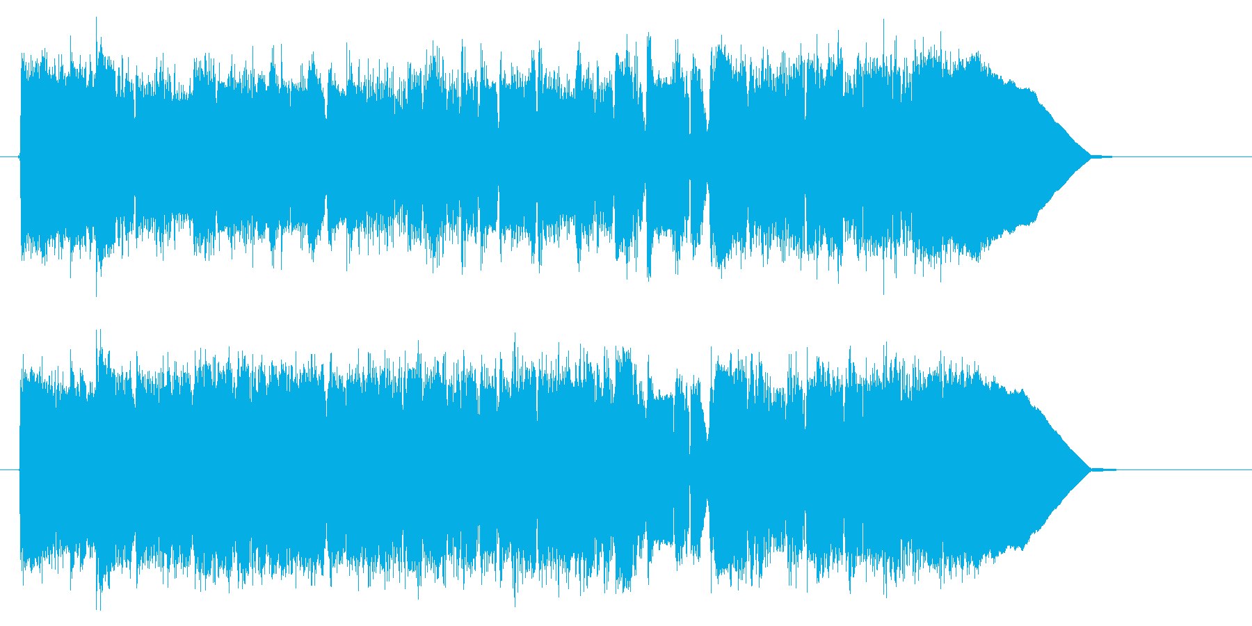 爽やかで軽快なアコギジングルの再生済みの波形