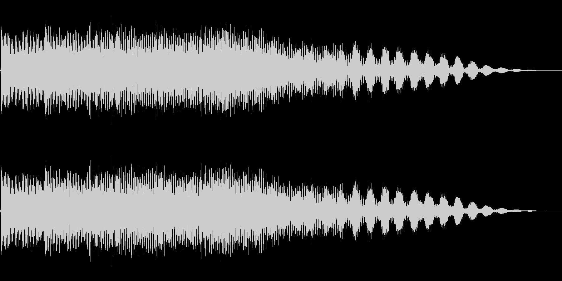 シンセ(ヒット系)ジングルの未再生の波形