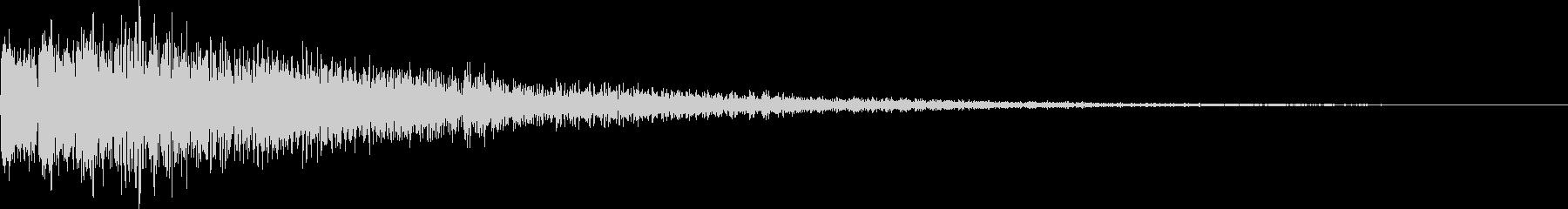 デロロローン(ステージ移動、ネガティブ)の未再生の波形