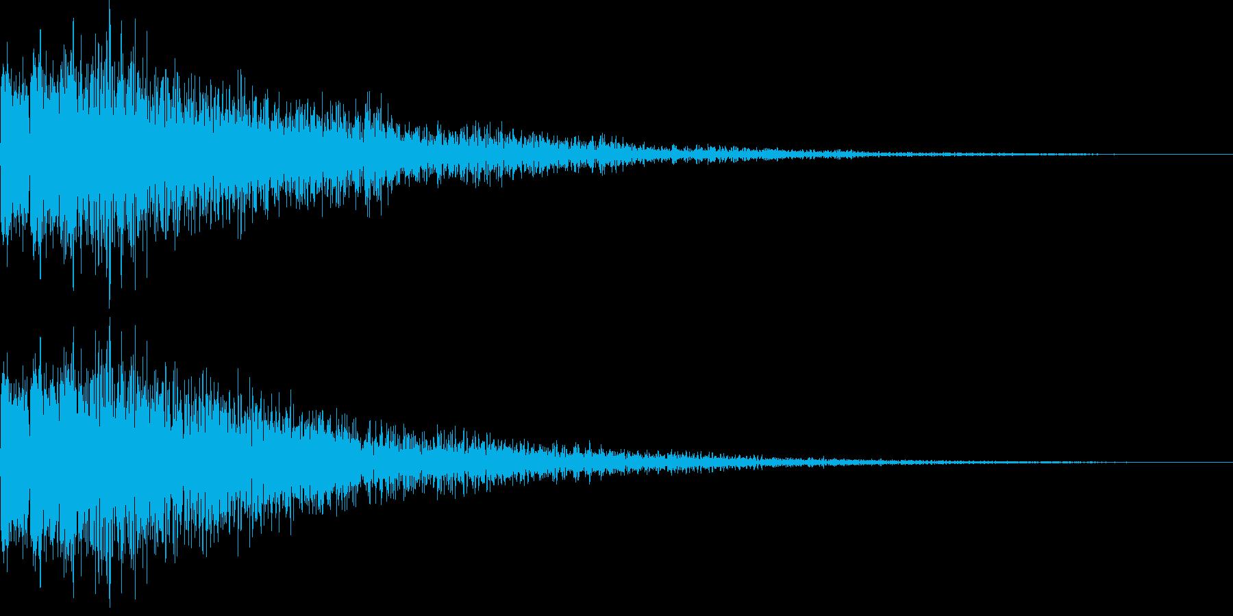 デロロローン(ステージ移動、ネガティブ)の再生済みの波形