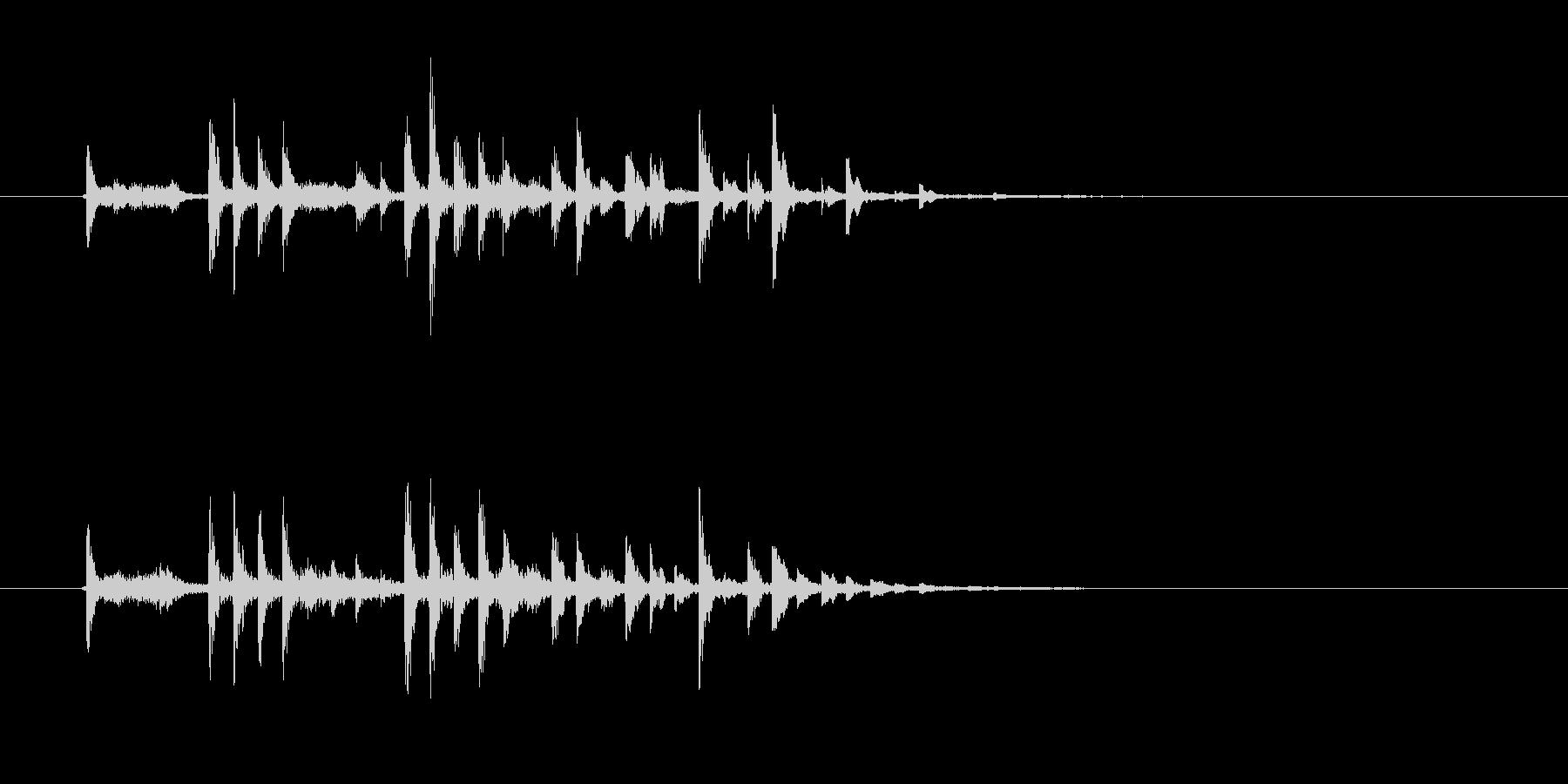 軽快でキャッチ―なSFジングルの未再生の波形