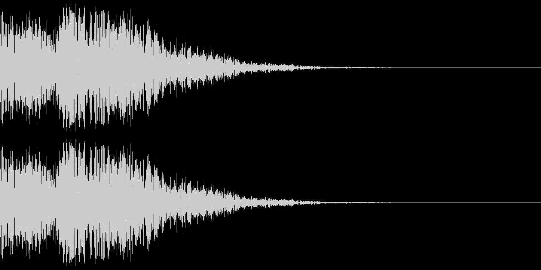 ゲームに使えそうなヒット、消滅音の未再生の波形