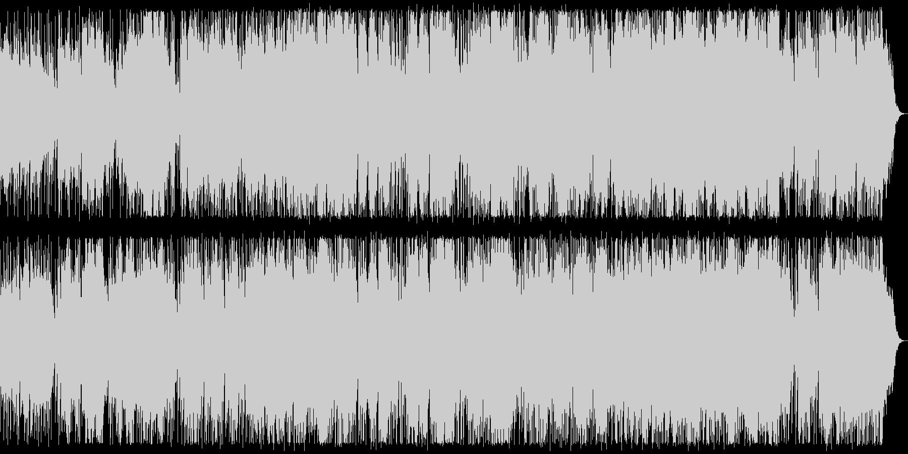 ベースとドラムを絡めたダークなBGMの未再生の波形