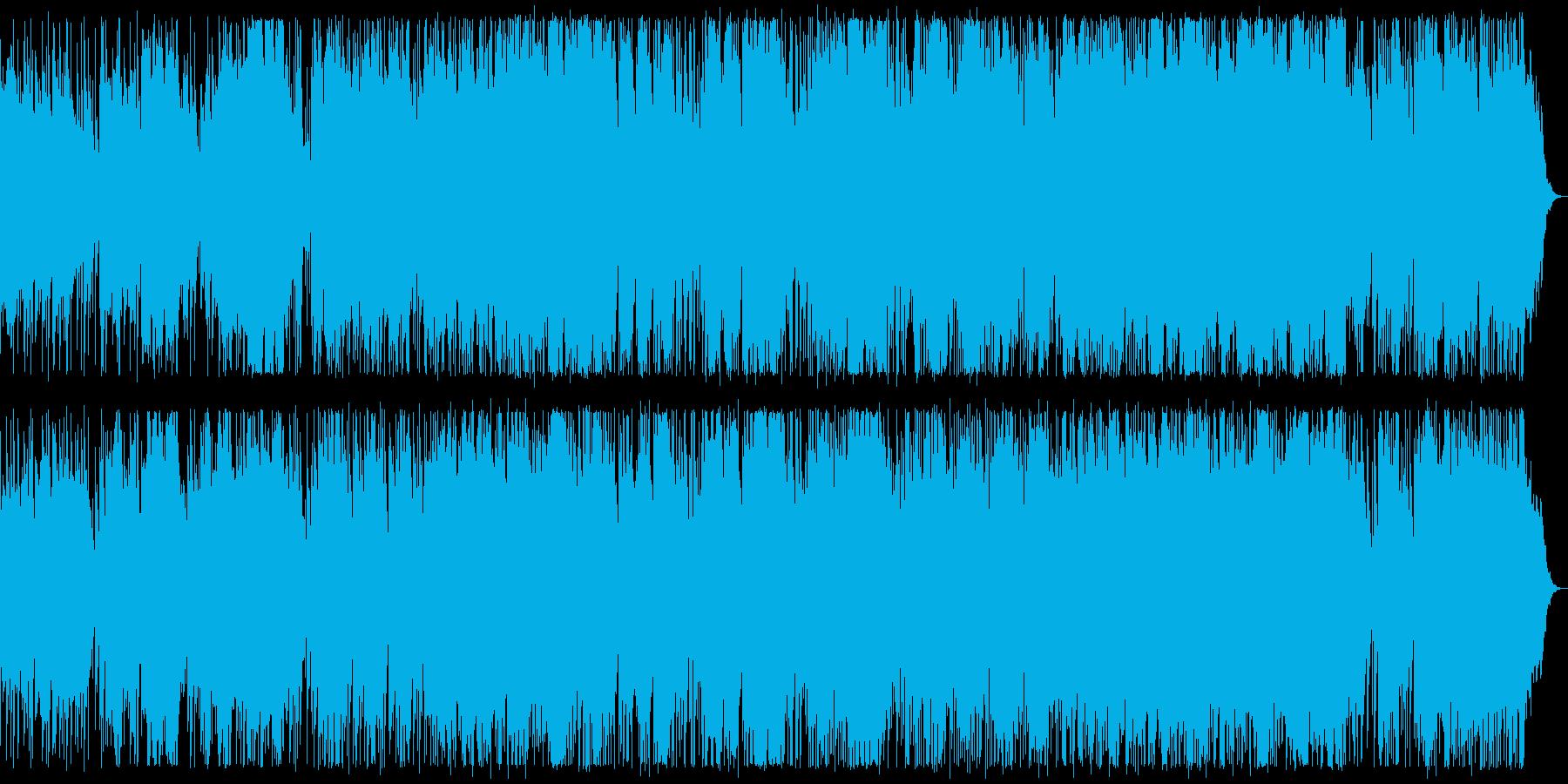 ベースとドラムを絡めたダークなBGMの再生済みの波形
