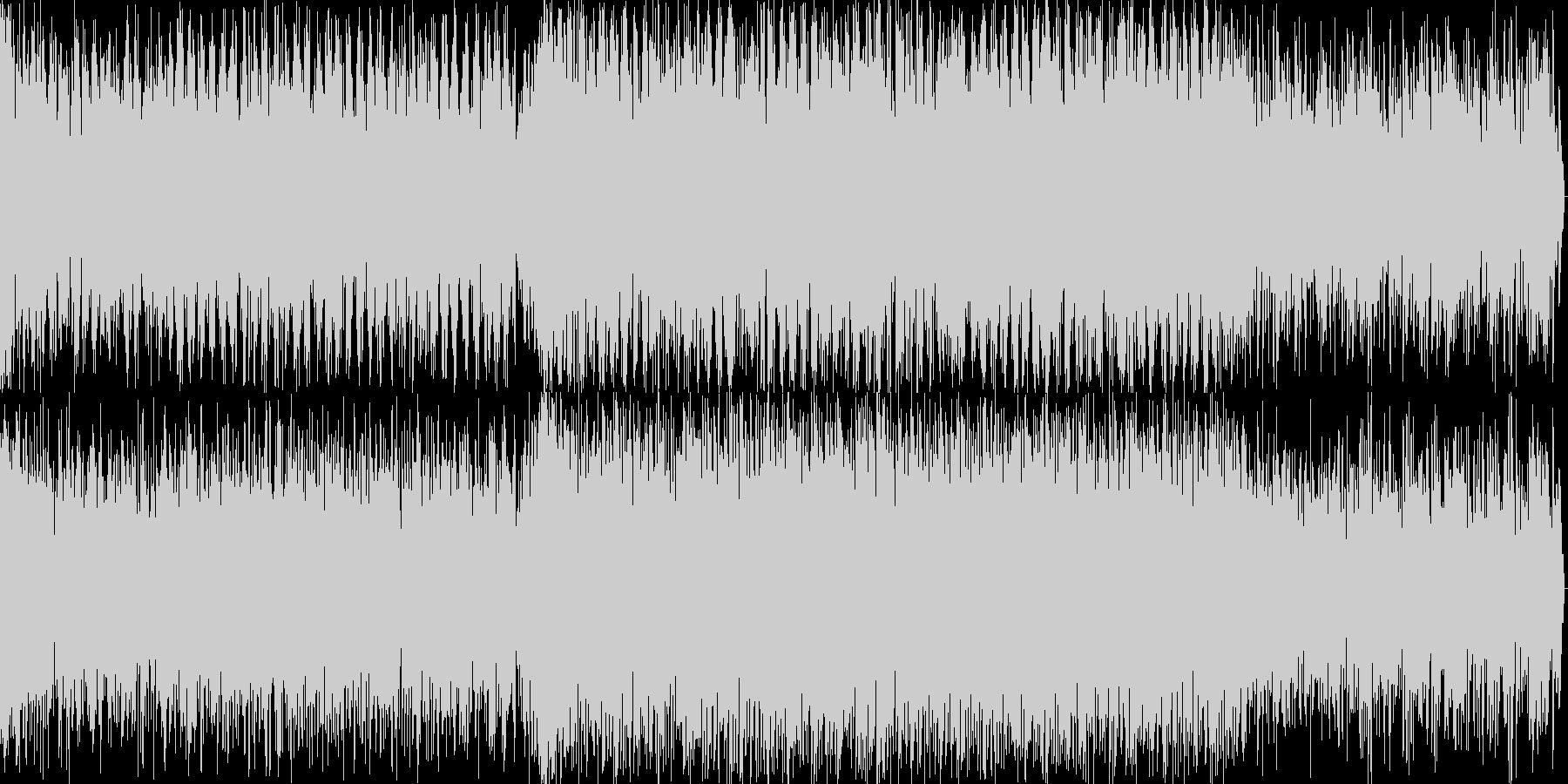 機械的EDMサウンドの短編BGMの未再生の波形