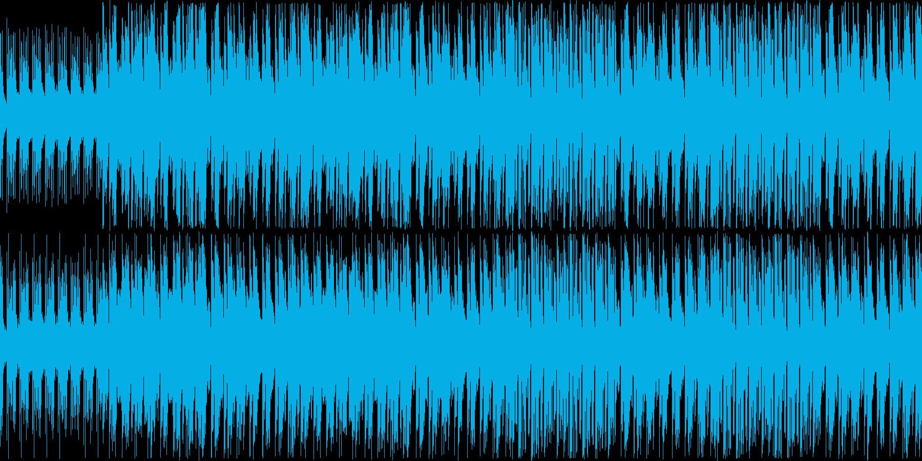 【軽快ピアノファンク】の再生済みの波形