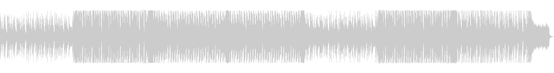 ポップで気分が弾むシンセサイザーの曲の未再生の波形