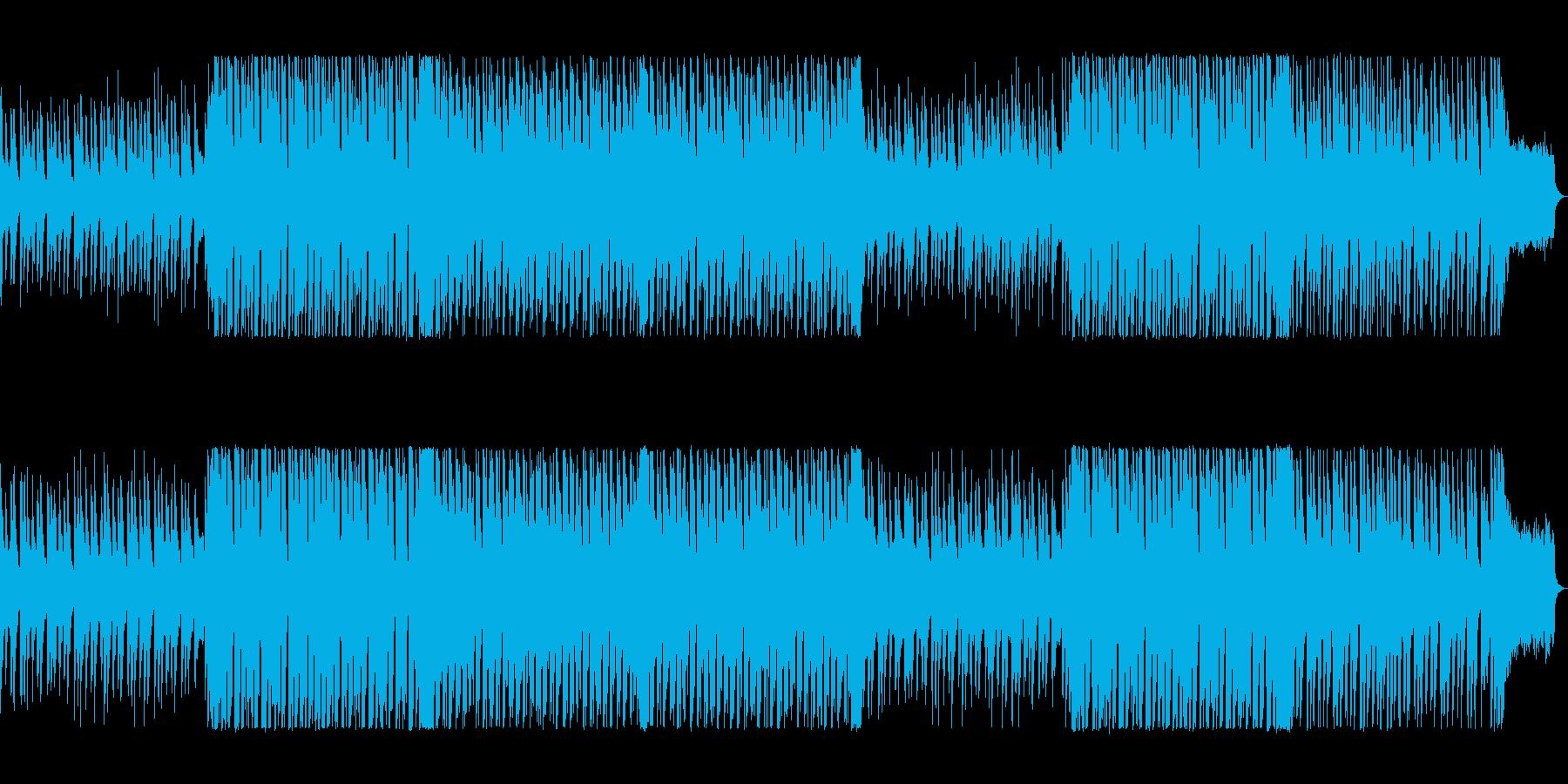 ポップで気分が弾むシンセサイザーの曲の再生済みの波形