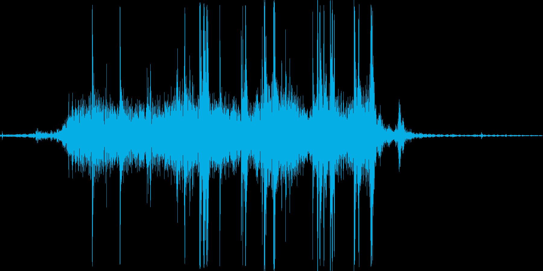 シャー。紙(ページなど)をめくる音の再生済みの波形