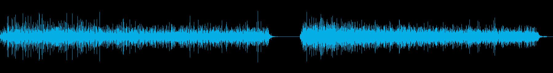 神楽鈴(小)を軽く振る音の再生済みの波形