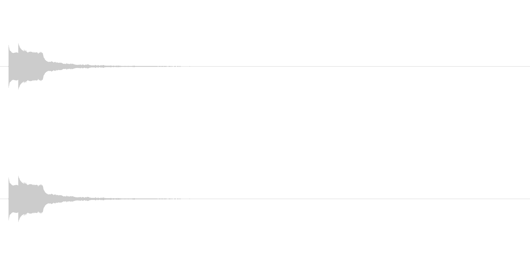 ピコーン テロップ・決定音・タッチ音の未再生の波形