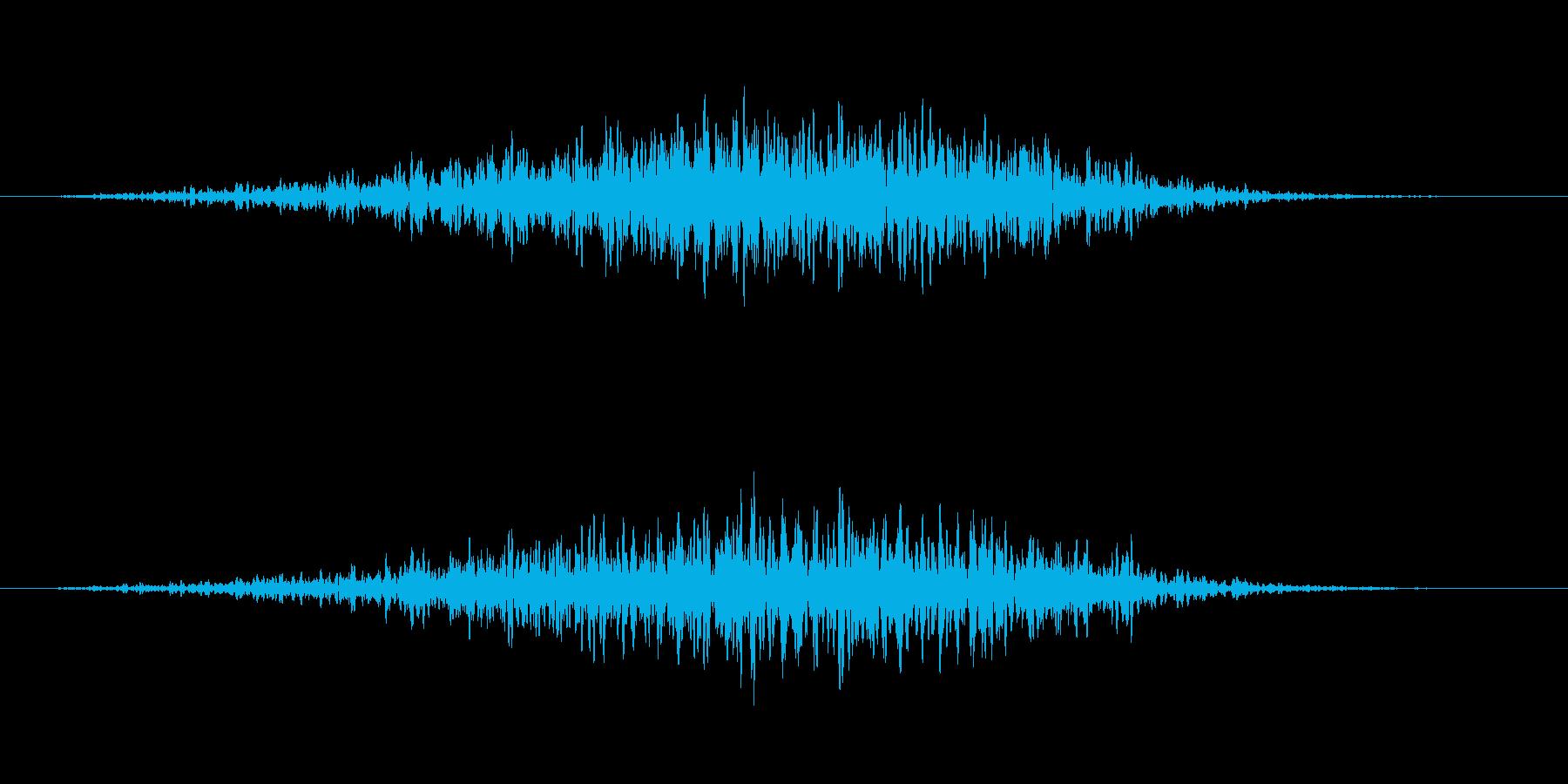 サー(背後の気配・暗闇)の再生済みの波形