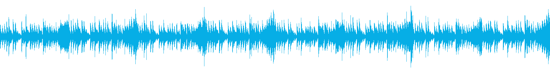 クールかつサイバーな上質テクノの再生済みの波形