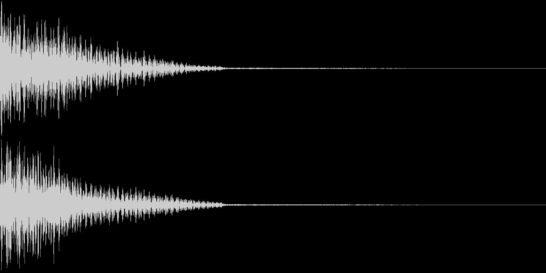 ホラー 衝撃 ドーン 驚き びっくり 3の未再生の波形