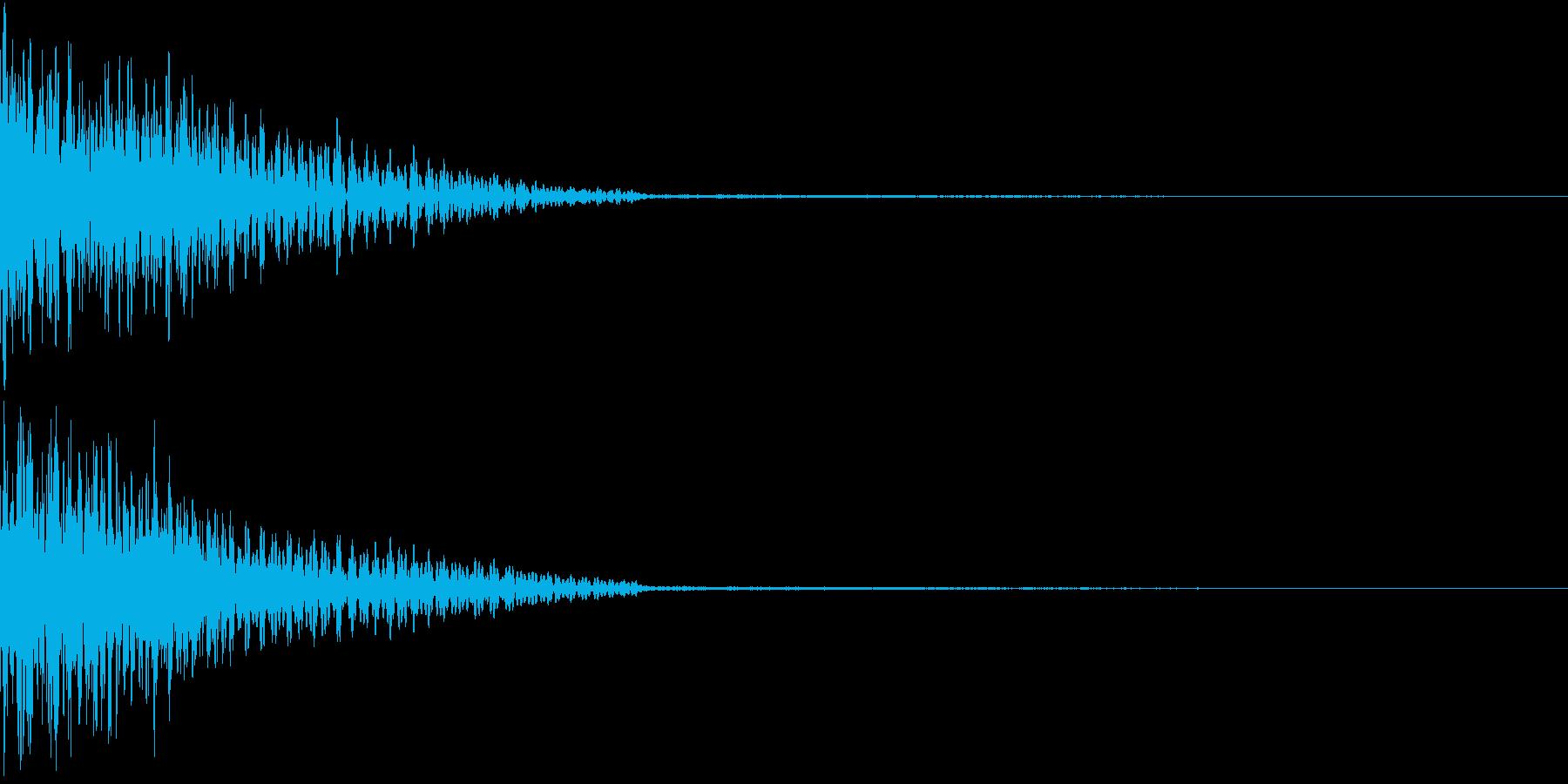 ホラー 衝撃 ドーン 驚き びっくり 3の再生済みの波形
