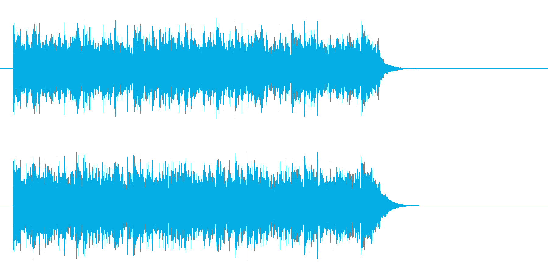 優しい陽射しのポップス(サビ)の再生済みの波形