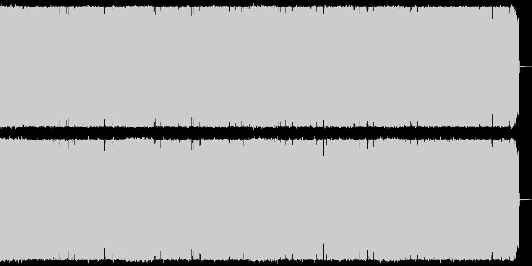 疾走感のある攻撃的なヘビーメタルの未再生の波形