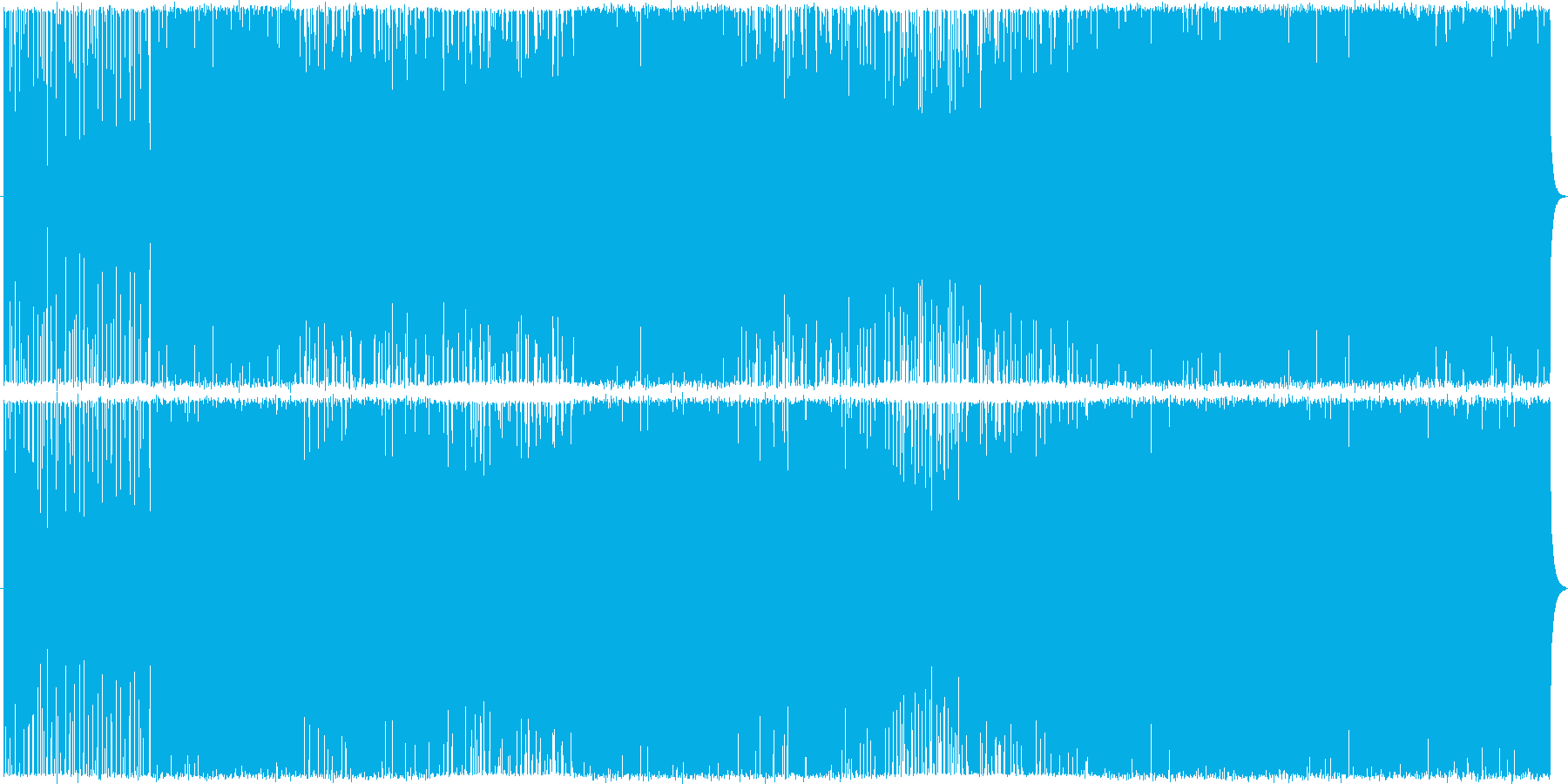 三味線主体のかっこいい和風テクノの再生済みの波形