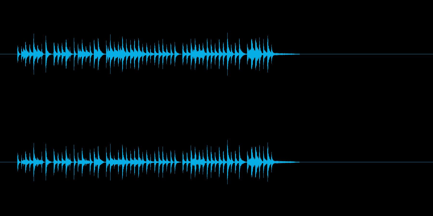 コミカル パーカッション 打楽器 楽しいの再生済みの波形