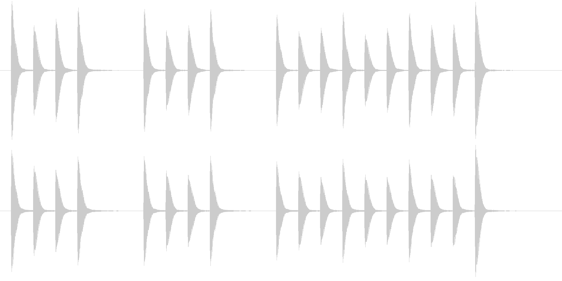 単調だけどほのぼのとしたジングルの未再生の波形