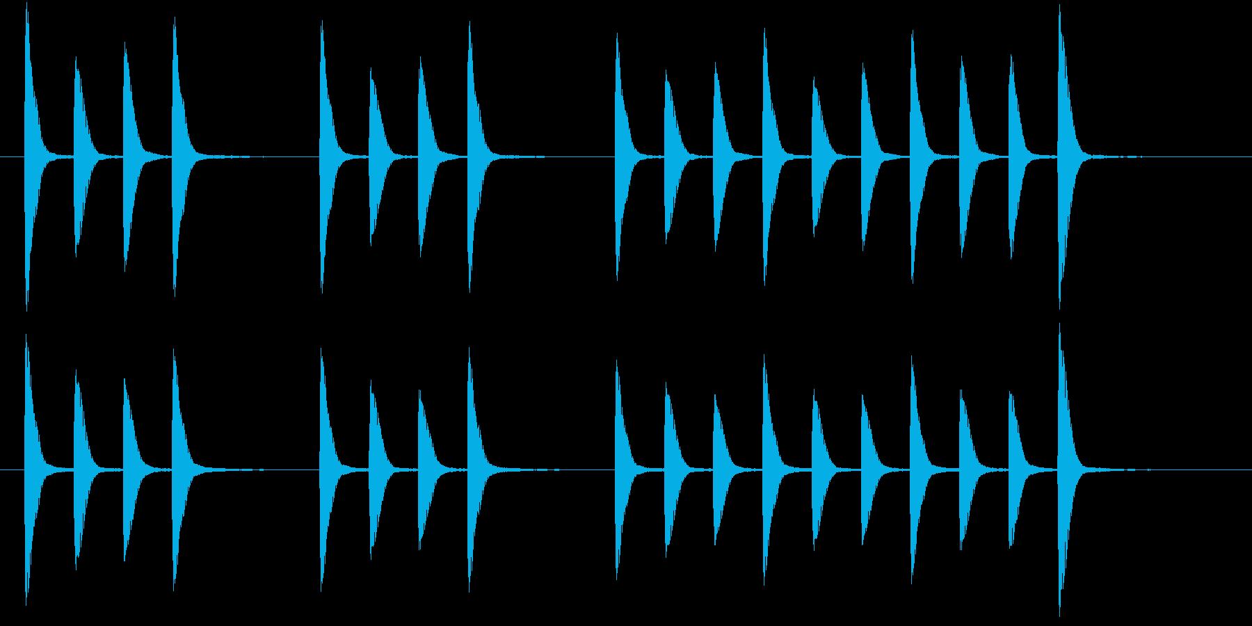 単調だけどほのぼのとしたジングルの再生済みの波形