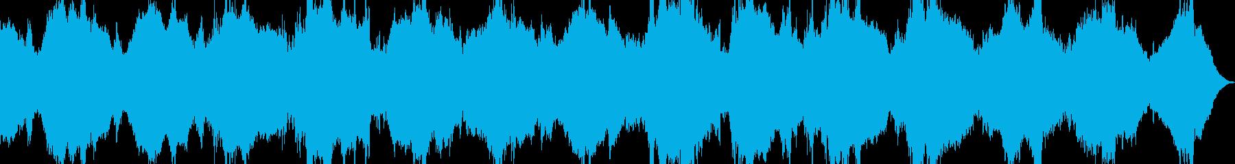 宇宙やスローモーションを感じる曲の再生済みの波形