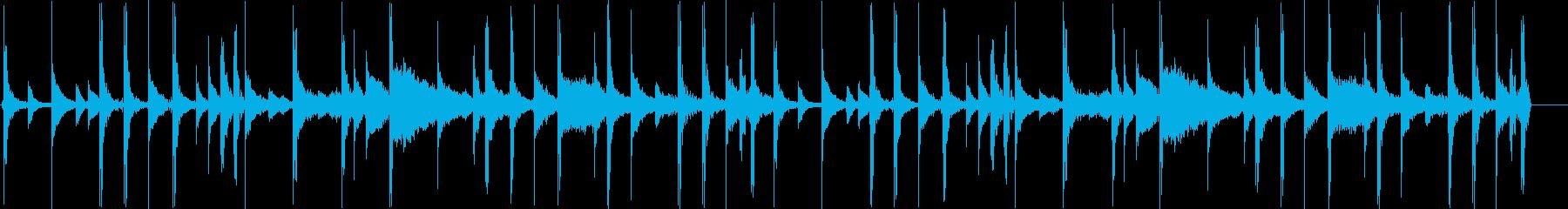 ロック向け生ドラムループ 100bpm の再生済みの波形
