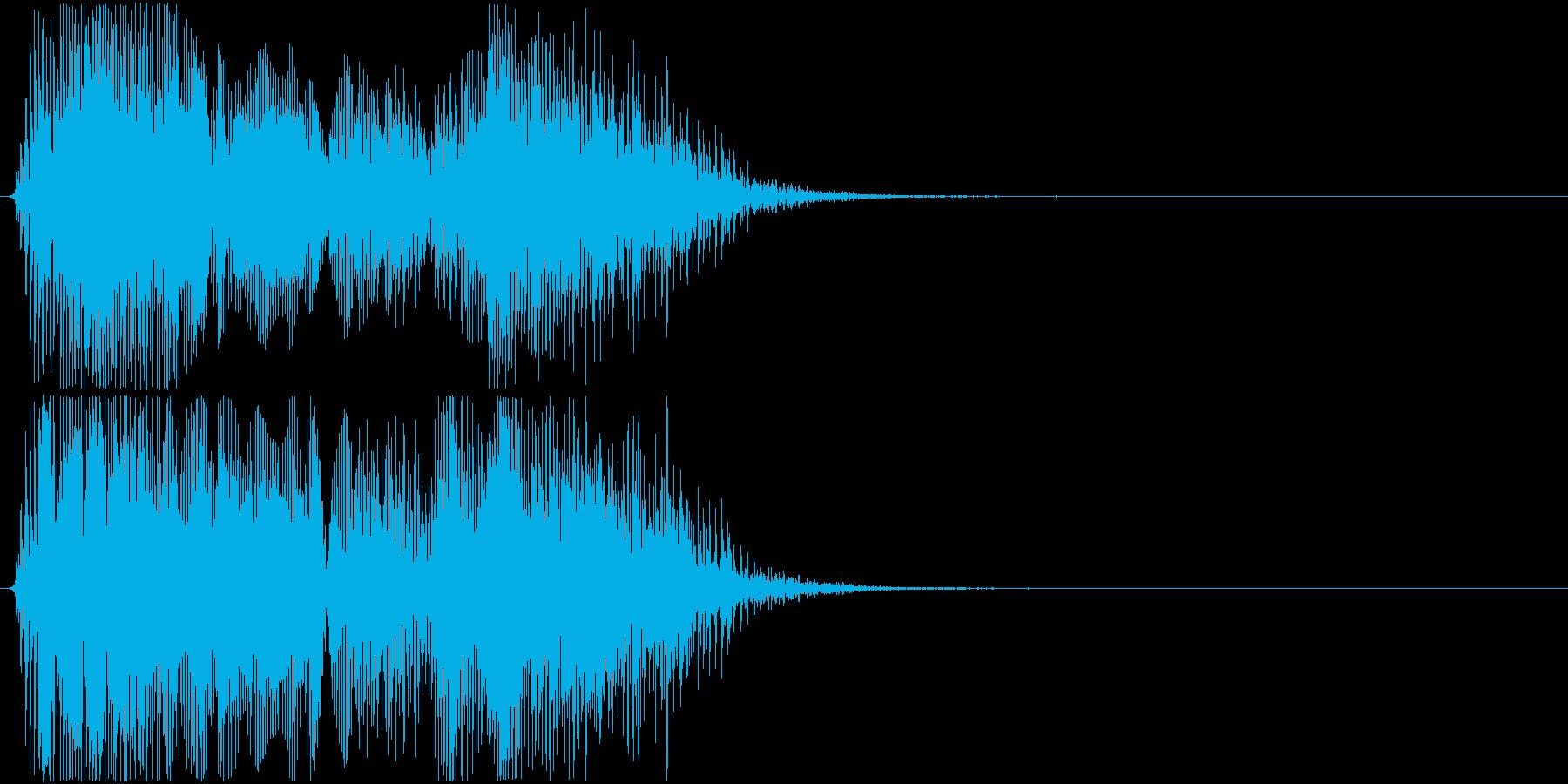 格闘ゲーム用「ラウンド1」の再生済みの波形